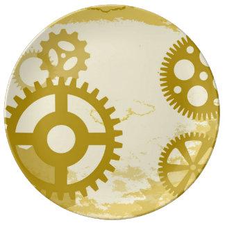 "Steampunk 10.75"" Decorative Porcelain Plate"