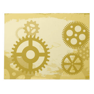 "Steampunk 11"" x 8.5"" Notepad - 40 pages"