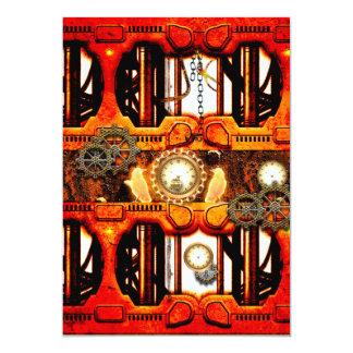 Steampunk 13 Cm X 18 Cm Invitation Card
