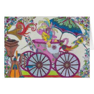 Steampunk 15 Pink Bathtub Carriage Card