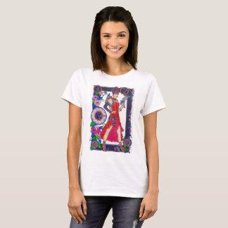 Steampunk #4 T-Shirt Red Dress/Air Gun & Rose