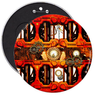 Steampunk 6 Cm Round Badge