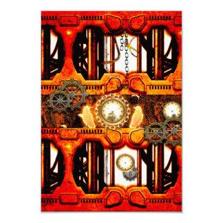 Steampunk 9 Cm X 13 Cm Invitation Card