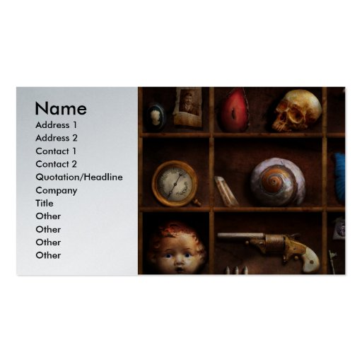 Steampunk - A box of curiosities Business Cards