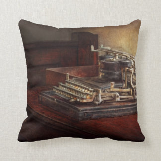 Steampunk - A crusty old typewriter Cushion