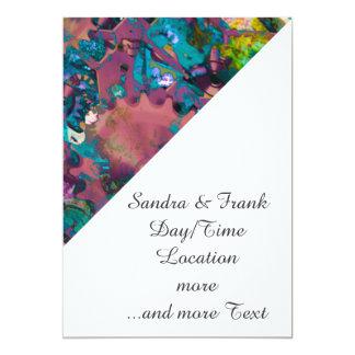 Steampunk abstract 13 cm x 18 cm invitation card
