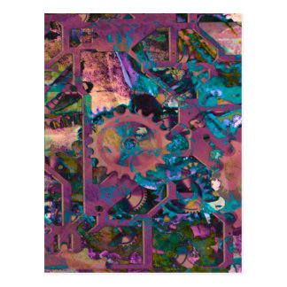 Steampunk, abstract post card