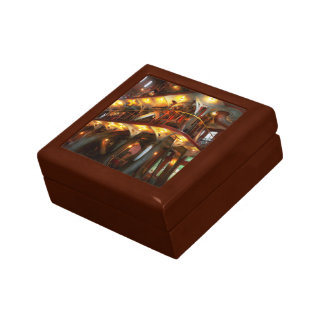 Steampunk - Allis does all the work Small Square Gift Box