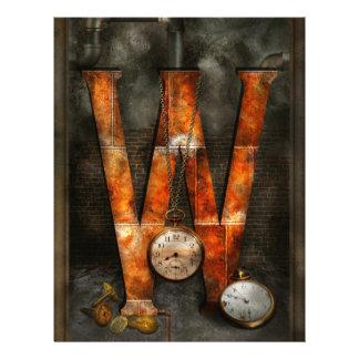 Steampunk - Alphabet - W is for Watches 21.5 Cm X 28 Cm Flyer