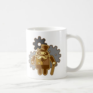 Steampunk android coffee mug