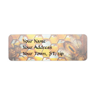 Steampunk - Apiary - The hive Return Address Label