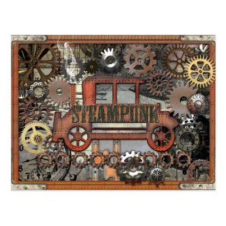 Steampunk Auto Postcard