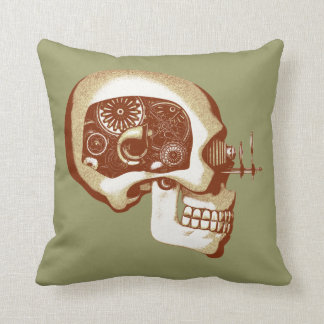 Steampunk Automaton #1C Throw Pillow