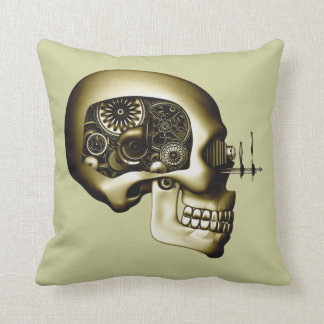 Steampunk Automaton #1D Throw Pillow