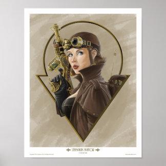 Steampunk Aviator Poster