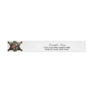 Steampunk, awesome eagle head with gears and clock wraparound address label