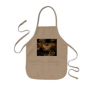 Steampunk, awesome heart kids apron