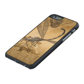 Steampunk, awesome steam dragonflies with gears carved® maple iPhone 6 case
