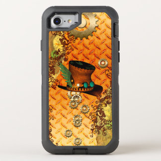 Steampunk, awesome steam hat OtterBox defender iPhone 8/7 case