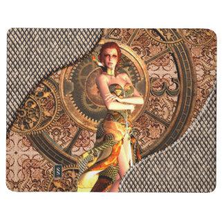 Steampunk, beautiful steam women journal