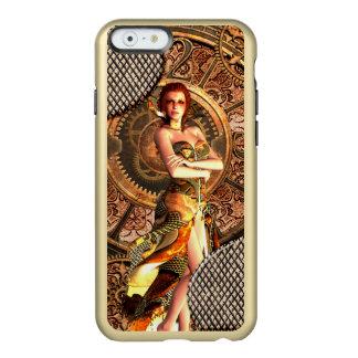 Steampunk, beautiful steam women with clocks incipio feather® shine iPhone 6 case