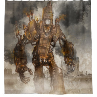 Steampunk Big Ben Shower curtain