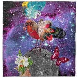 Steampunk Bird Napkin