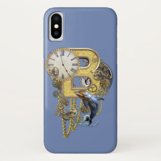 Steampunk birthday letter B iPhone X Case