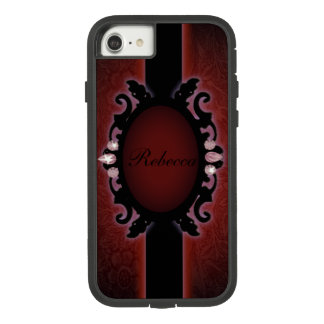steampunk black and red gothic monogram Case-Mate tough extreme iPhone 8/7 case