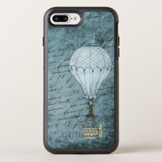 Steampunk Blue iPhone Case Vintage Hot Air Balloon