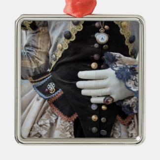 Steampunk bodice, Carnival, Venice Metal Ornament
