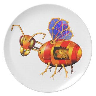 steampunk bumblebee plates