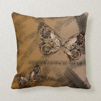 SteamPunk Butterfly Throw Pillow