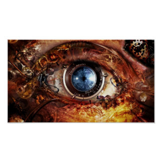 Steampunk Camera Eye Poster