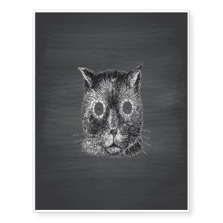 Steampunk Cat Black Chalkboard