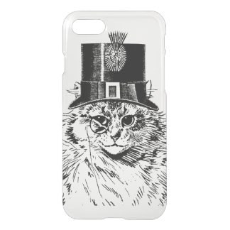 Steampunk Cat Kitty in a Top Hat iPhone 7 Case