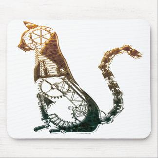 Steampunk cat mousepad