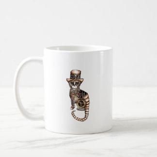 Steampunk cat mug