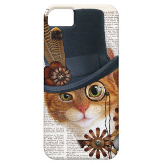 Steampunk Cat on Dictionary Page Barely There iPhone 5 Case