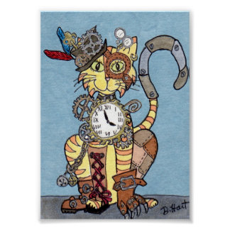 Steampunk Cat Poster