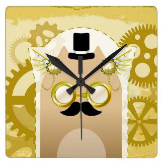 Steampunk Cat wall clock