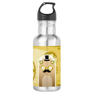 Steampunk+Cat Water Bottle