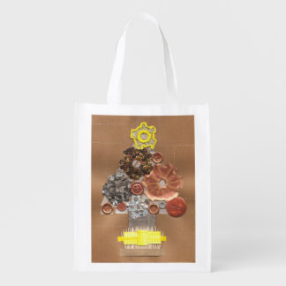 Steampunk Christmas Reusable Bag