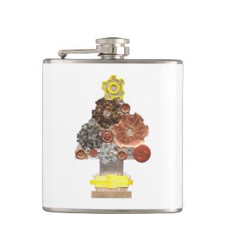 Steampunk Christmas Tree Flask