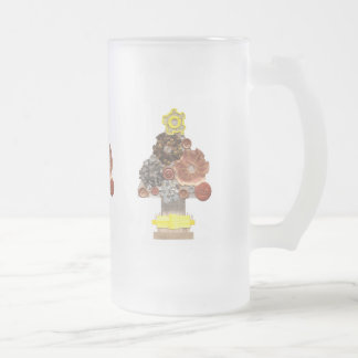 Steampunk Christmas Tree Frosted Jug Frosted Glass Beer Mug