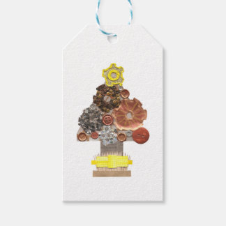 Steampunk Christmas Tree Gift Tags