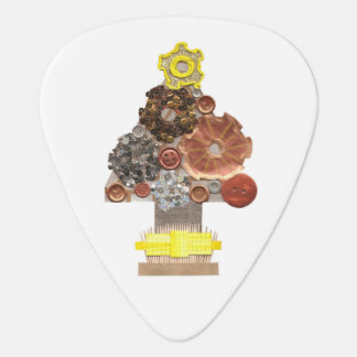 Steampunk Christmas Tree Guitar Pick