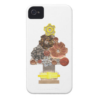 Steampunk Christmas Tree I-Phone 4 Case