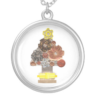Steampunk Christmas Tree Necklace