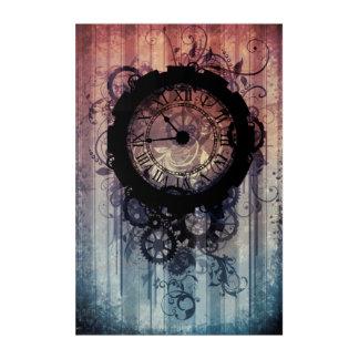 steampunk clock acrylic wall art